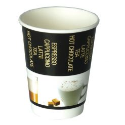 Pohárek papírový double 300/350 ml coffee
