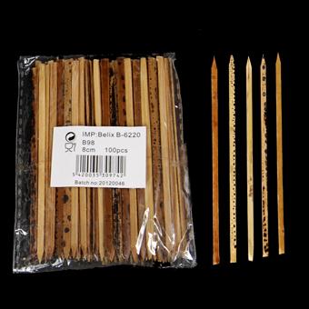 Bambusové napichovátko Tiger 8cm 100ks/B98