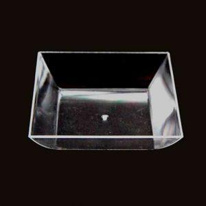 Plate squre transparentní