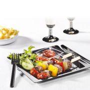 Jednorázový plastový party talíř all-in-one – 10 ks 2