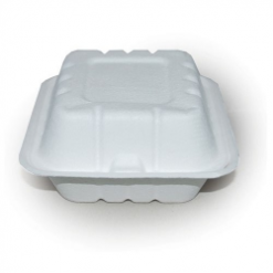 Hamburger box z cukrové třtiny 15x15x9,5 cm