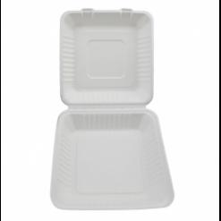 Menu box z cukrové třtiny jednodílný 3500ml(230x230x85mm)