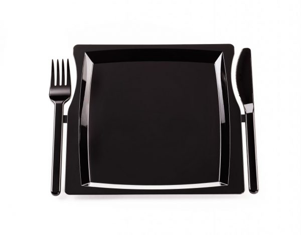 Jednorázový plastový party talíř all-in-one - 10 ks