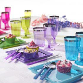 Jednorázové plastové sklenice